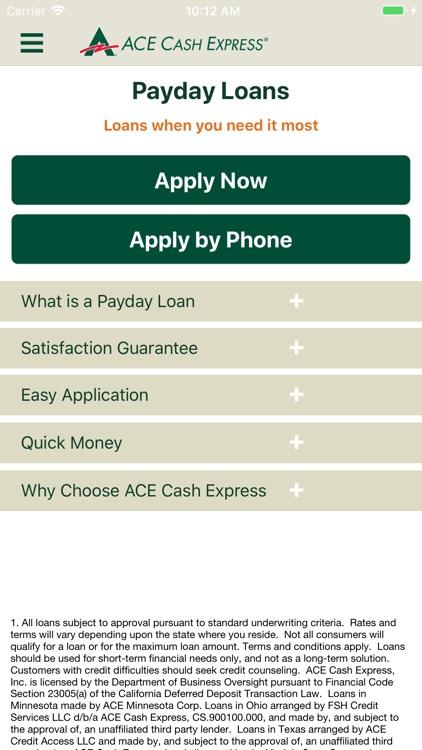 ACE Cash Express Mobile Loans