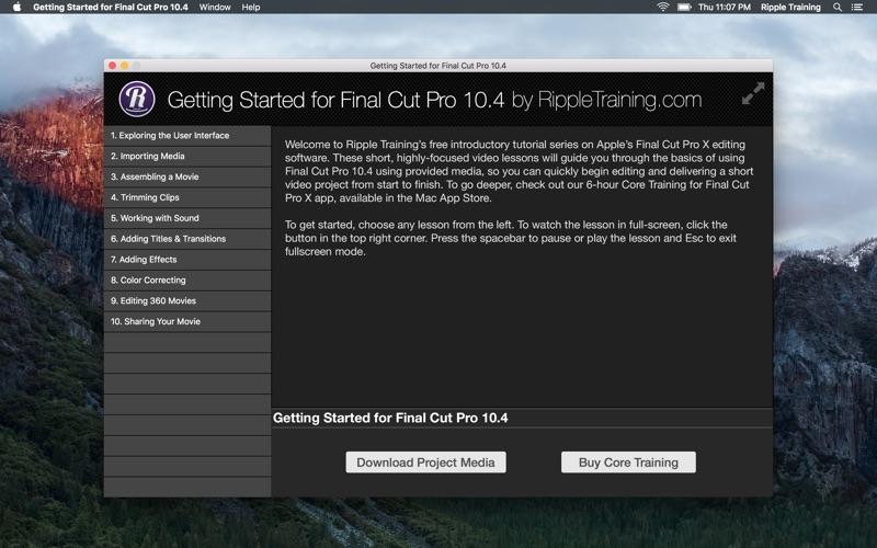点击获取Getting Started for FCP 10.4