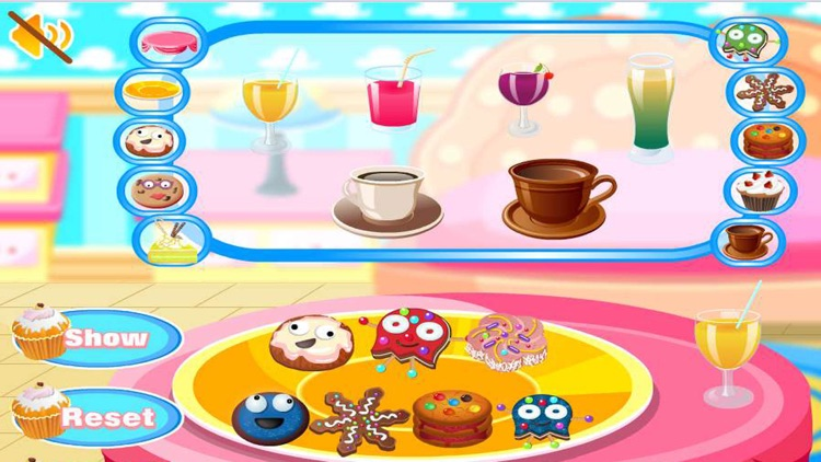 Food Table Decoration - Cooking game
