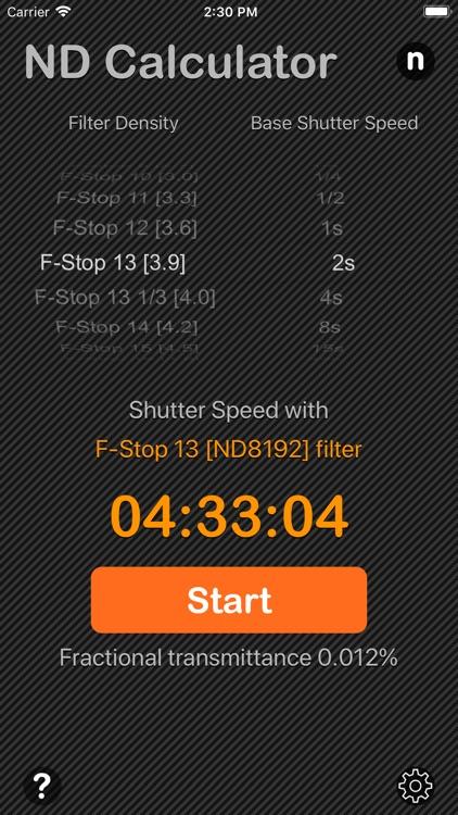 Neutral Density Calculator screenshot-3