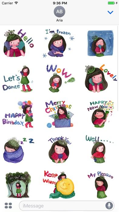 Pretty Girl in Winter Sticker screenshot 5
