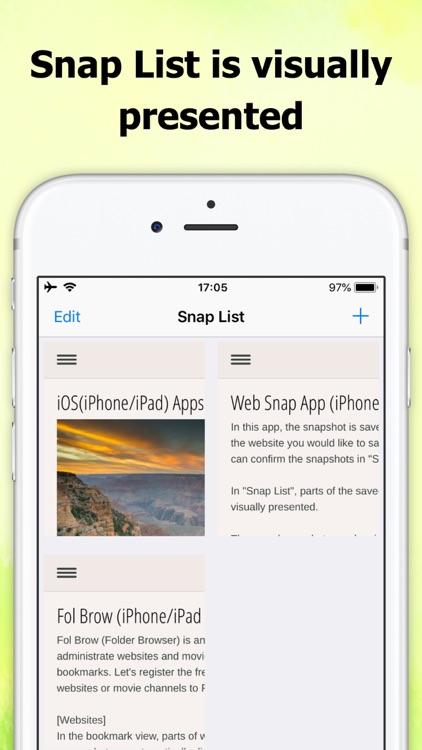 Web Snap App