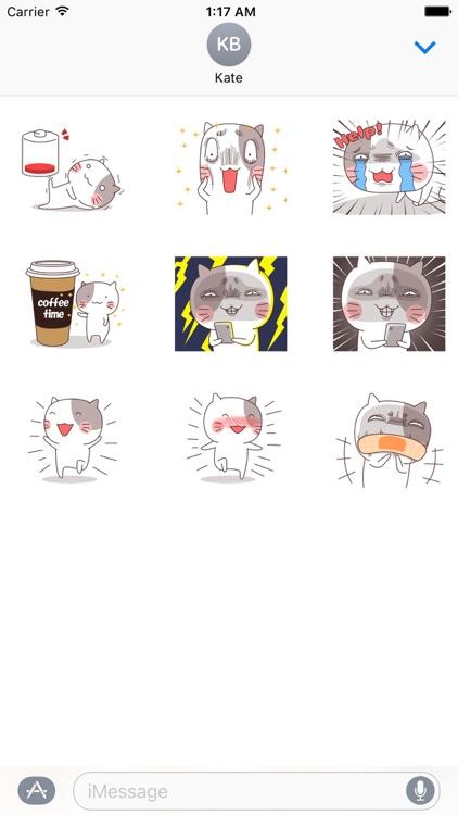Animated Crazy Cat Sticker