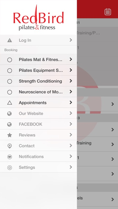 RedBird Pilates Screenshot