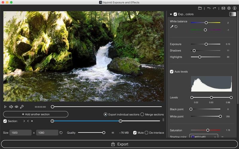 liquivid Exposure and Effects Screenshots