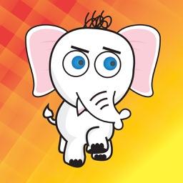 ElliMoji: Elephant Stickers