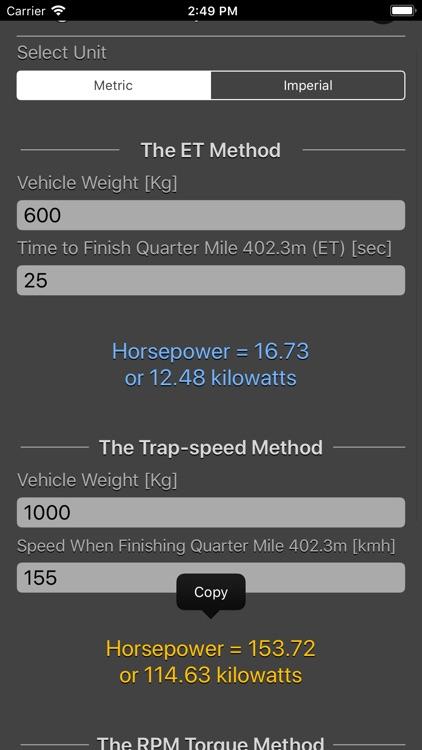 Engine Horsepower Calculator screenshot-3