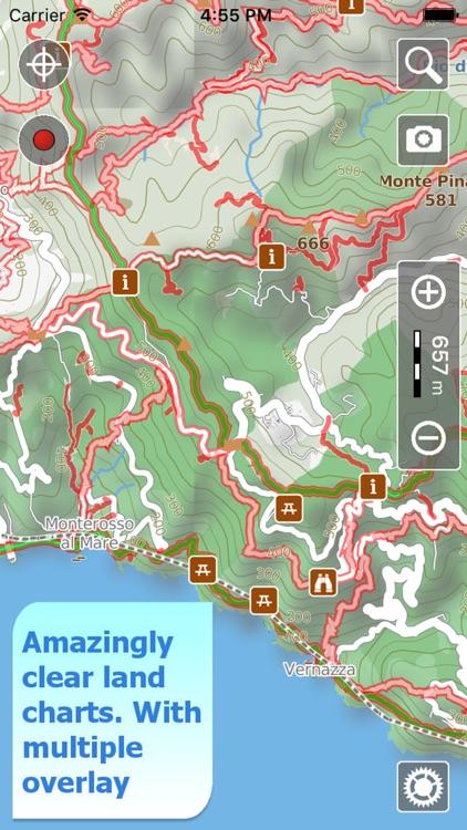 Cinque Terre Trails, Hiker GPS screenshot-0