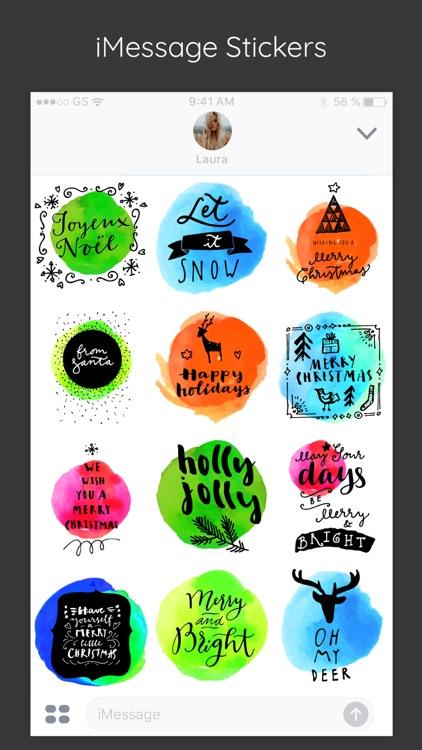 Merry Christmas Watercolor App