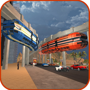 Elevated Train City Driving app