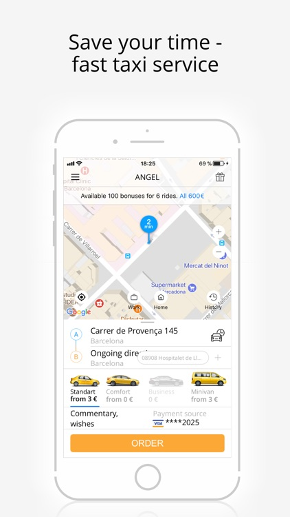 Angel - taxi booking online screenshot-4