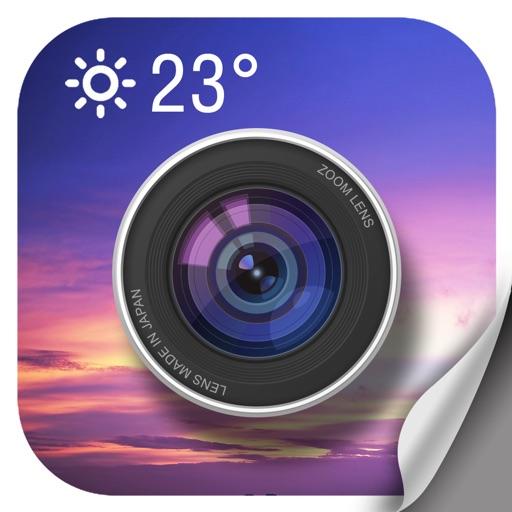 Weather Camera Sticker-Photo & picture watermark