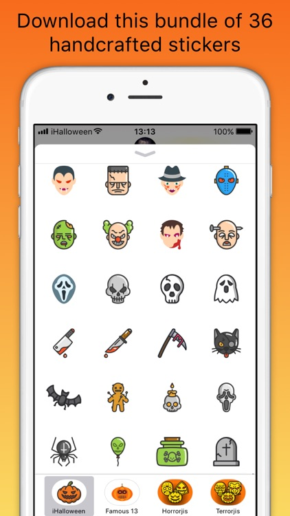iHalloween scary stickers screenshot-3