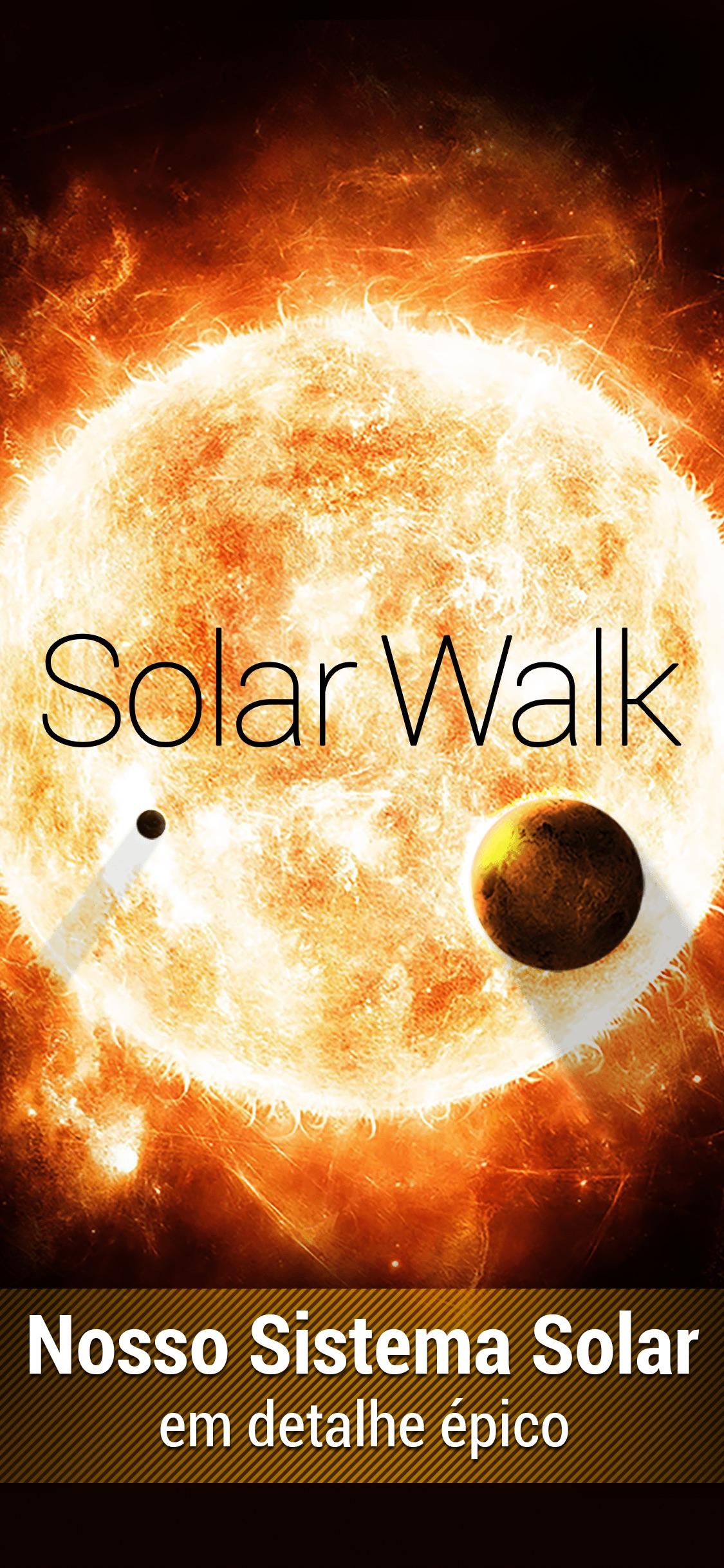 Screenshot do app Solar Walk: Sistema planetário