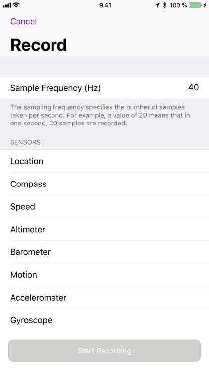 Sensors - view and record screenshot-4