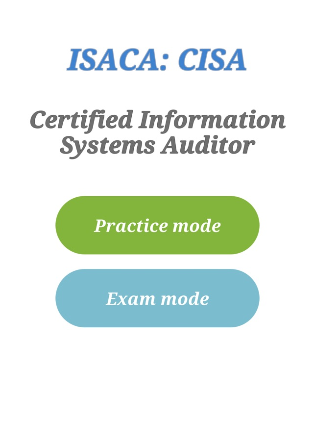 Cisa Certification Exam On The App Store