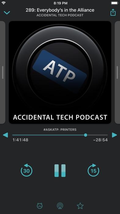 Overcast Screenshot on iOS