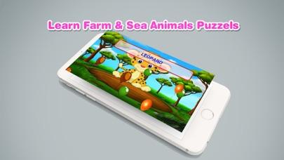 Learn Farm Sea Animals Puzzles screenshot three