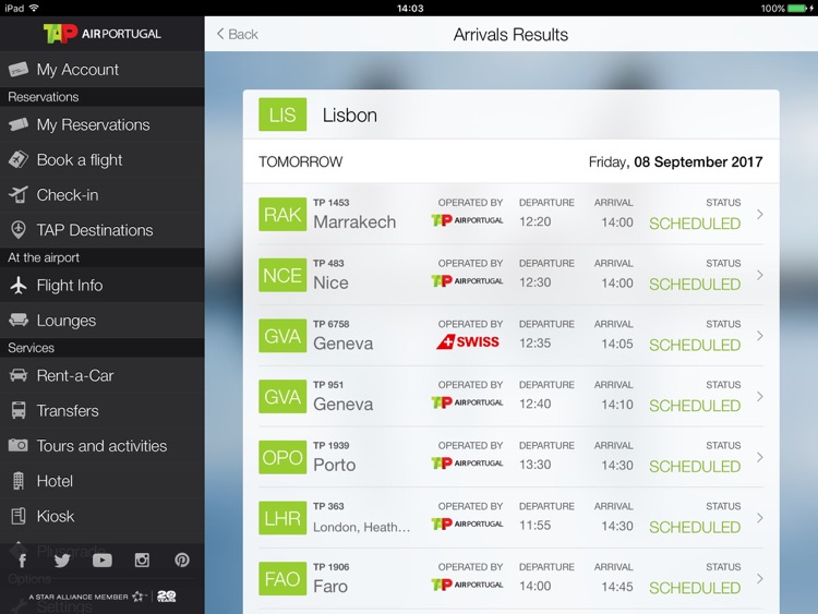 Air Portugal for iPad