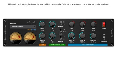 Overdrive AUv3 Plugin screenshot 1