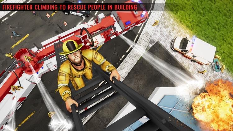 Fire Truck Driving Simulator screenshot-4