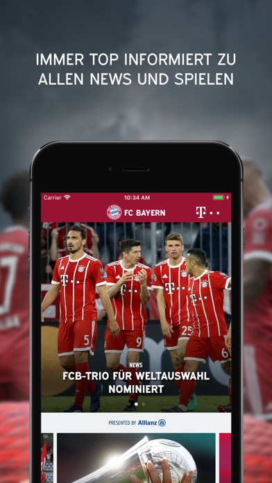 Screenshot for FC Bayern München in Germany App Store