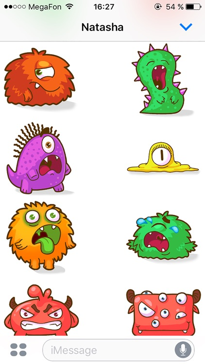 Monsters - Beautiful stickers