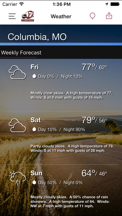 ABC 17 Stormtrack Weather App screenshot-3