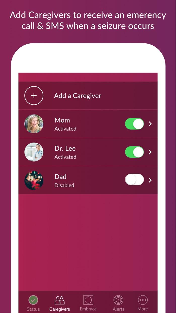 Alert App for Embrace Watch Screenshot