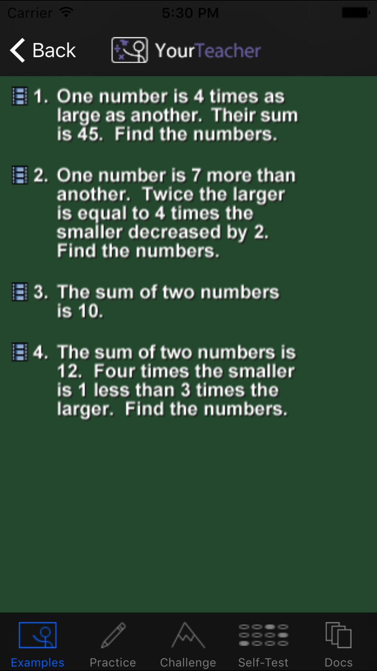 Math. Screenshot