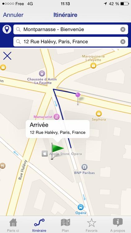 Paris ci la Sortie du Métro