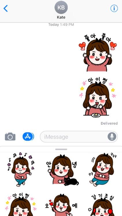 Girl Kim stickers 김소녀 아이메시지스티커