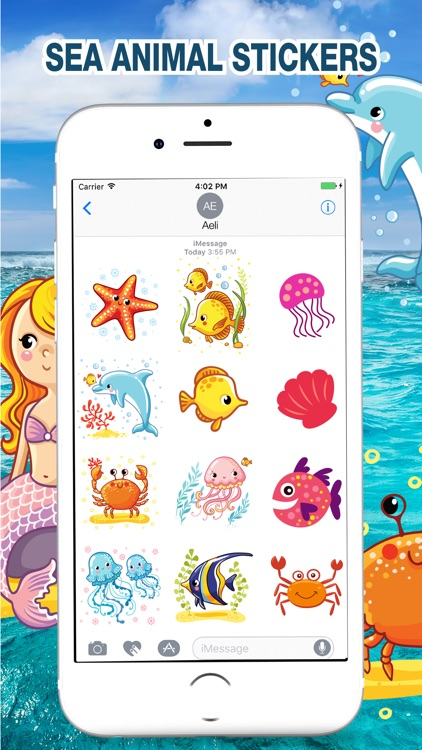 Sea Animal Stickers Pack screenshot-2