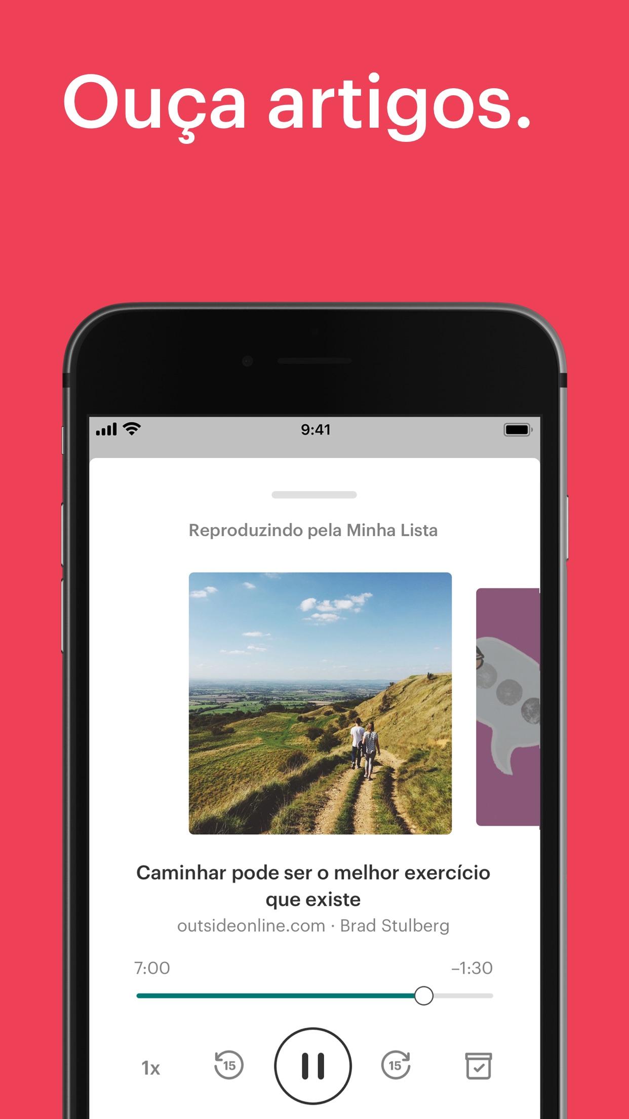 Screenshot do app Pocket