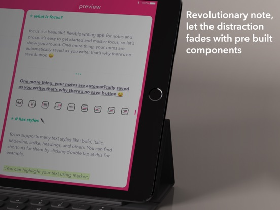 Screenshot #5 for Focus - tasks, projects, notes