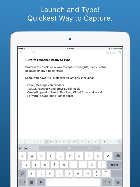 Drafts 4 - Legacy Version on the App Store
