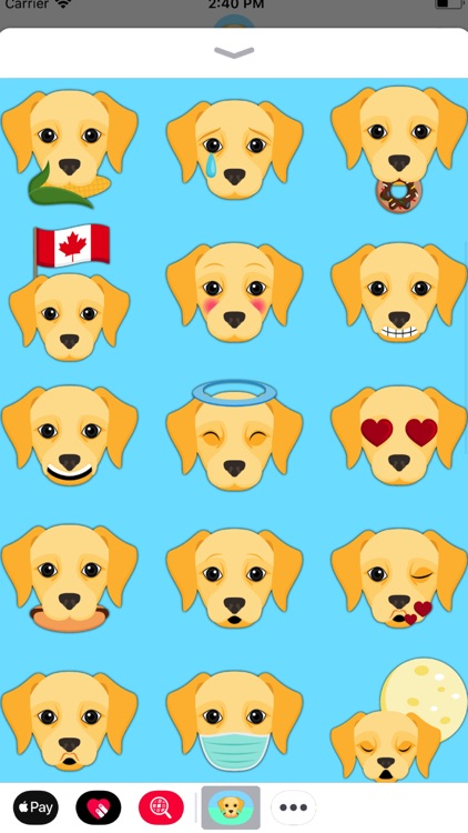 Yellow Labrador Emoji screenshot-0