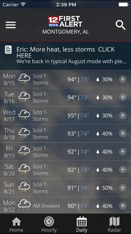 WSFA First Alert Weather screenshot-3