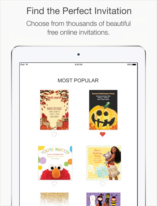 Punchbowl online invitations on the app store punchbowl online invitations on the app store stopboris Gallery