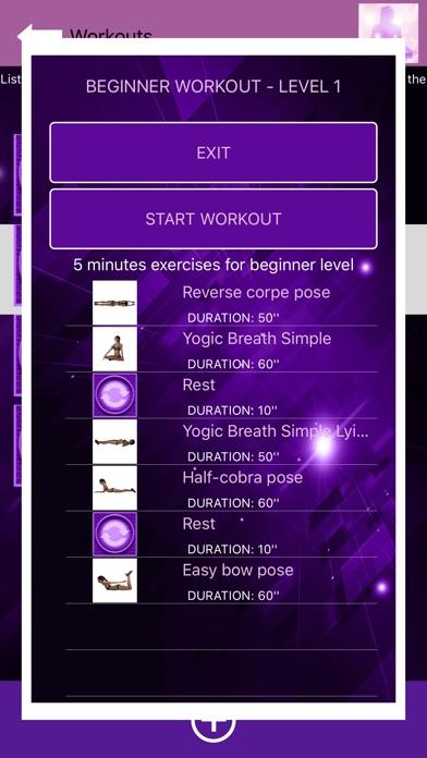 Yoga for beginners - YogaBot screenshot 2