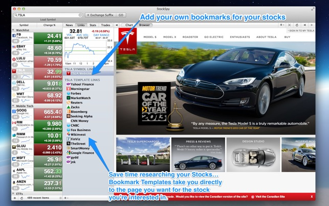 Spy Stock Quote Awesome Stockspy Realtime Stocks Quote On The Mac App Store