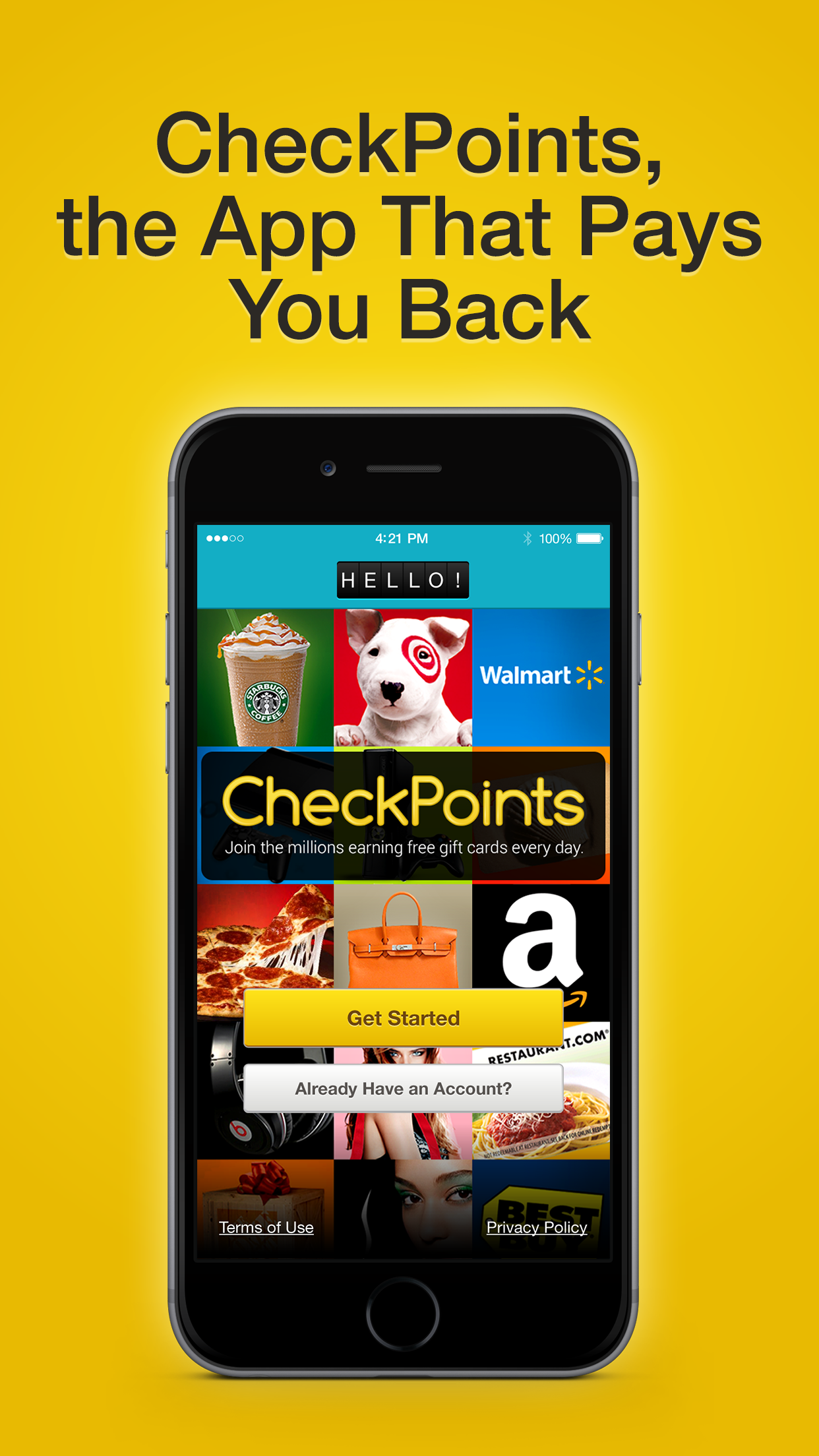 CheckPoints #1 Rewards App Screenshot