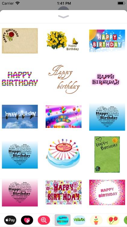 Happy Happy Birthday Stickers