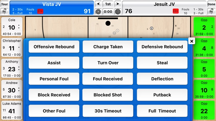 Basketball Stat Tracker Live screenshot-2