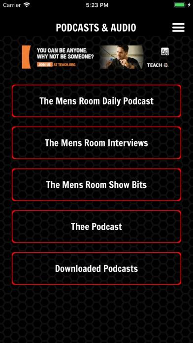The Mens Room app Screenshot on iOS