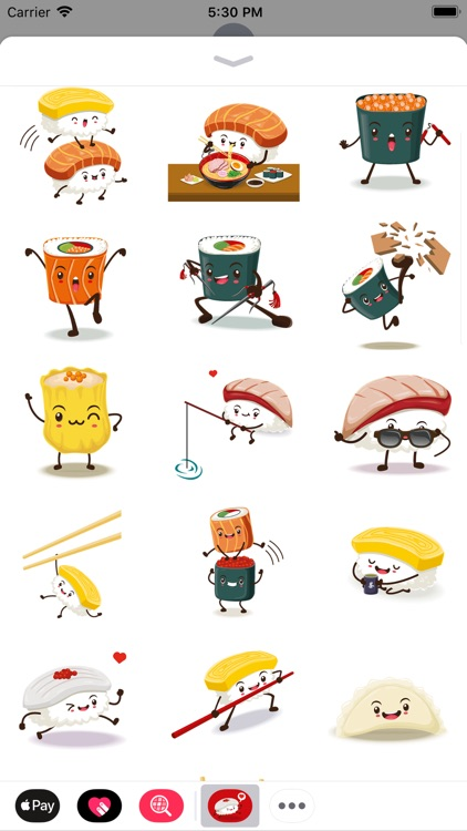 Funny Sushi Stickers
