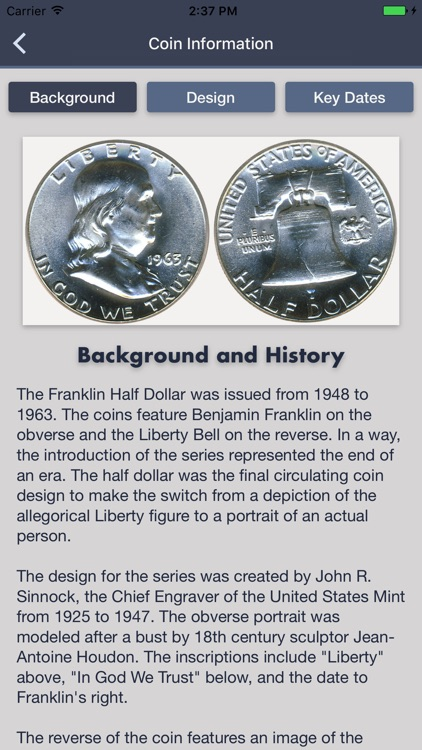 Franklin Half Dollars - Coin Collection Tracker