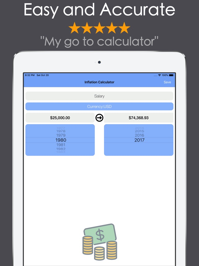 Inflation Calculator On The