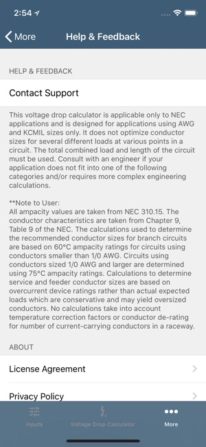 Southwire voltage drop calc on the app store keyboard keysfo Gallery