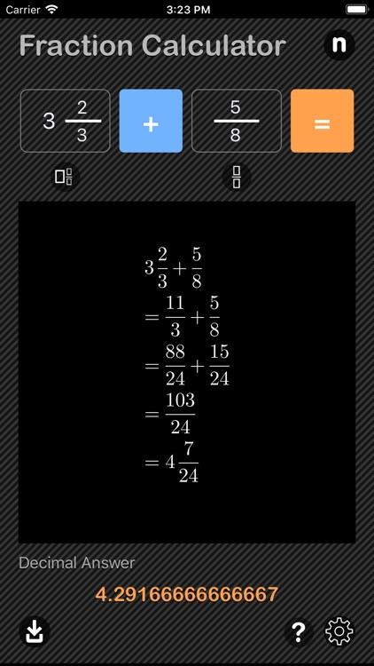 Fraction Calculator - Math